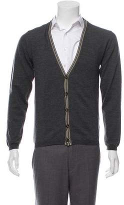 Etro Rib Knit Wool Cardigan