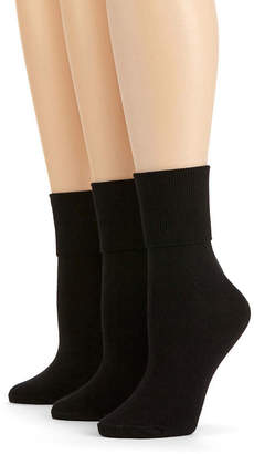 JCPenney MIXIT Mixit 3-pk. Mary Jane Turn-Cuff Socks