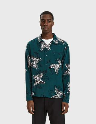 Stussy Butterfly Shirt in Pine