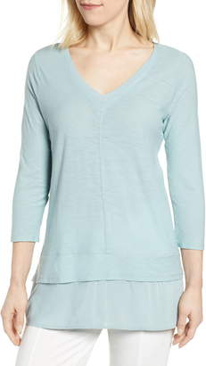 Vince Camuto Layered Look V-Neck Top
