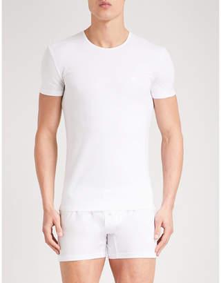Ermenegildo Zegna Mens White Classic Solid Stretch-Cotton Pyjama Top