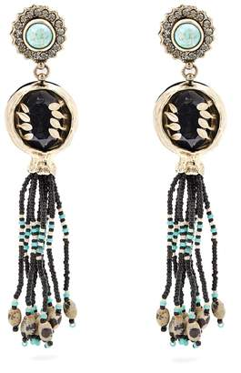 ETRO Bead-embellished tassel-drop earrings