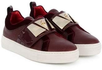 Cesare Paciotti Kids metallic plaque sneakers