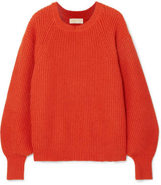 MICHAEL Michael Kors Ribbed-knit Sweater - Brick 358e57c4de1bc