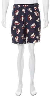 Valentino Silk Floral Jogger Shorts
