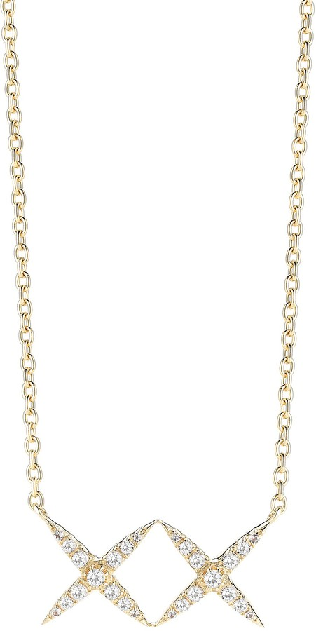 Elizabeth And James Elizabeth and James Vida Double X White Topaz Necklace