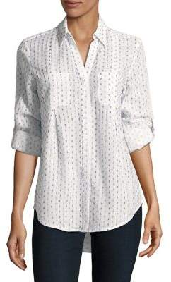 Lord & Taylor Printed Button-Down Shirt