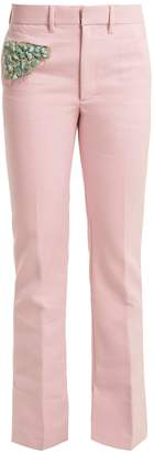 Toga Bead-embellished straight-leg trousers