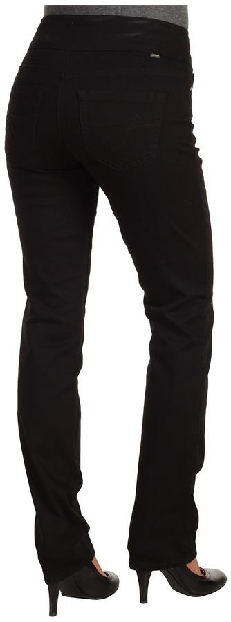 Jag Jeans Peri Pull-On Straight Leg Classic Twill (Black) - Apparel