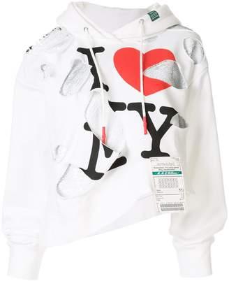 Puma Maison Yasuhiro distressed hoodie