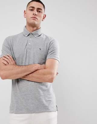 Jack Wills Bampton Button Down Polo Shirt in Gray Marl