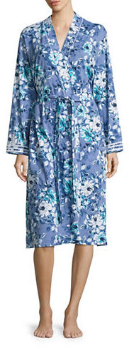 Carole HochmanCarole Hochman Cotton Jersey Floral Print Robe