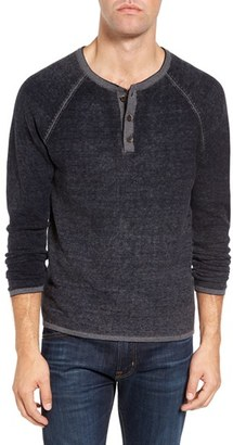 Men's Tailor Vintage Waffle Knit Henley Sweater $128 thestylecure.com