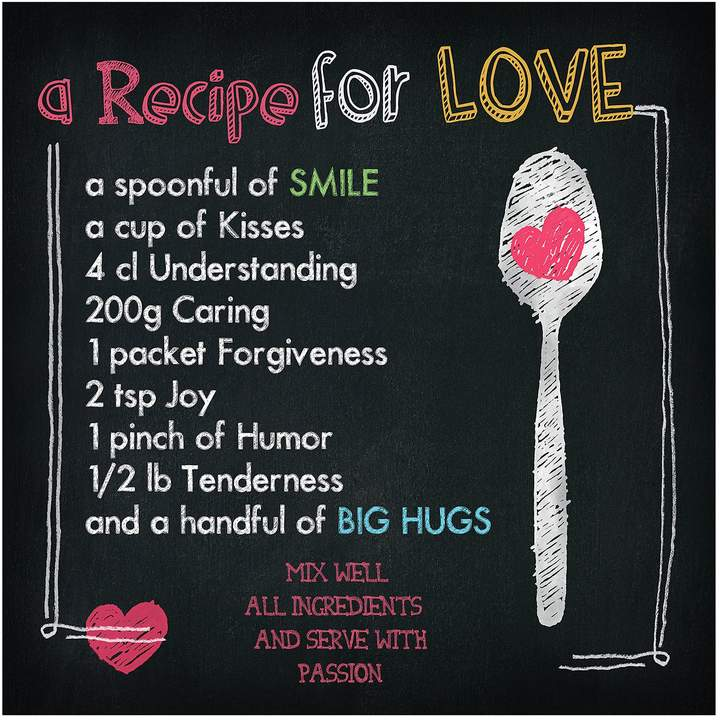 Pro Art Floatglasbild A Recipe For Love