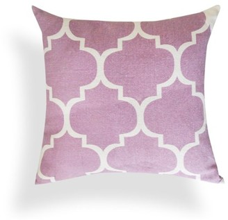 A1 Home Collections Thistle Printed Ogee Ikat Cotton 18-inch Throw Pillow