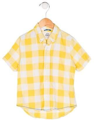 Boden Mini Boys' Gingham Shirt