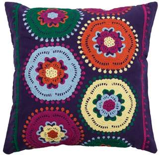 """Rizzy Home Kid's Pillow Pillow 18"""" x 18"""" in Purple Color"""