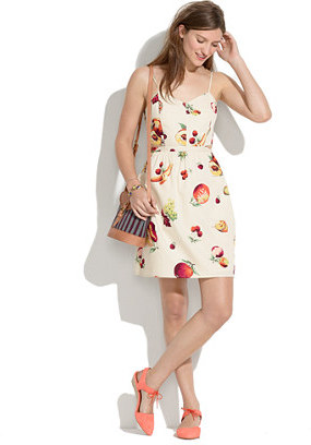Madewell Fresh Fruit Dress