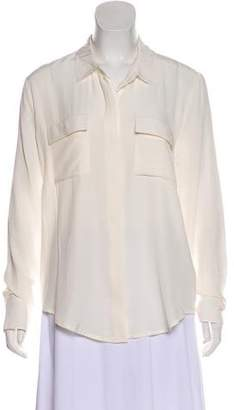 Anine Bing Long Sleeve Silk Button-Up