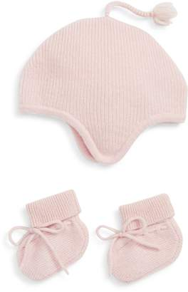 Nordstrom Signature Pink Cashmere Hat and Bootie Boxed Gift Set