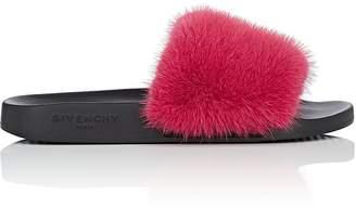 Givenchy Women's Mink Fur Slide Sandals