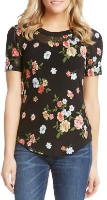 Karen Kane Floral Embroidered Top