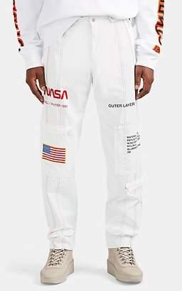"""Heron Preston Men's """"NASA"""" Tech-Fabric Pants - White"""