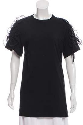Simone Rocha Embellished Short Sleeve Top