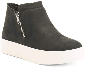 Platform Comfort Leather Hightop Sneakers