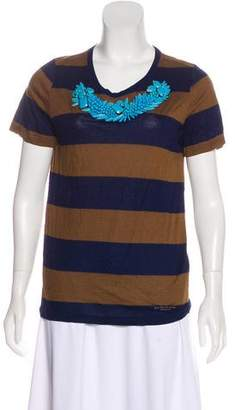 Burberry Embellished Jersey Top