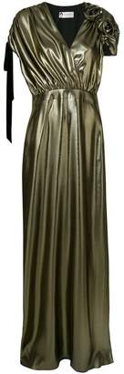 Lanvin long metallic gown