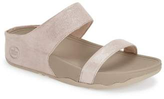 FitFlop Lulu Shimmer Suede Slide Sandal