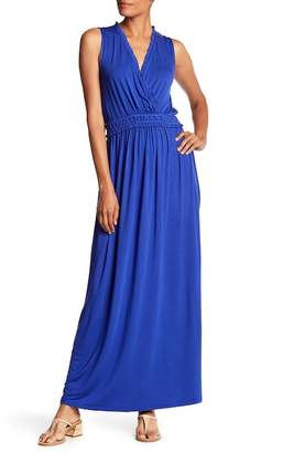 Spense Ruffle Trim Sleeveless Maxi Dress