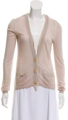 Lanvin Cashmere Button-Up Long Sleeve Cardigan