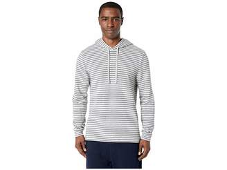 Vince Double Knit Stripe Pullover Hoodie