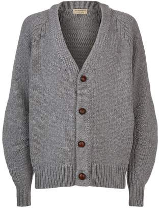 Burberry Contrast Button Cardigan