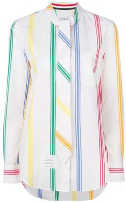 Thom Browne striped tied shirt