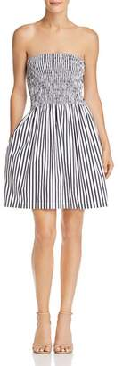 ATM Anthony Thomas Melillo Smocked Striped Dress