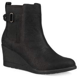 UGG Indra Leather Wedge Buckle Booties