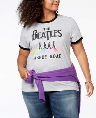 Hybrid Plus Size Beatles Graphic T-Shirt