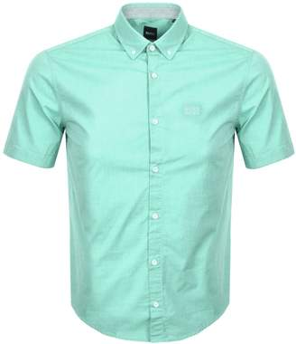 67c316376 BOSS Athleisure Biadiar Short Sleeved Shirt Green