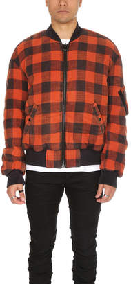 R 13 Double Plaid Flight Jacket