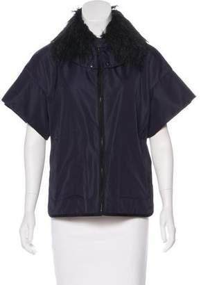 No.21 No. 21 Faux Fur-Trimmed Jacket