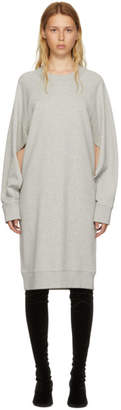 Maison Margiela Grey Basic Cotton Sweatshirt Dress