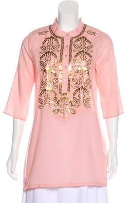 Figue Embellished Three-Quarter Sleeve Tunic