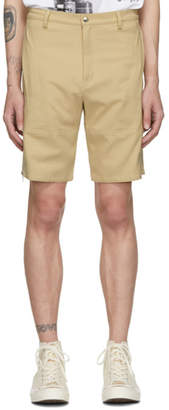 BEIGE paria /FARZANEH Cotton Zip Shorts