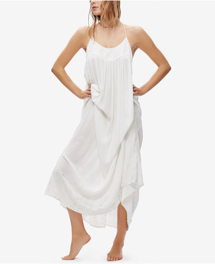 Free People Elaine Embroidered Maxi Dress