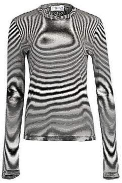 Derek Lam 10 Crosby Women's Stripe Linen & Cotton Tee