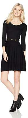 Amy Byer A. Byer Elbow Sleeve a-Line Sweater Dress (Junior's)