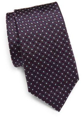 CanaliGeometric Patterned Silk Tie